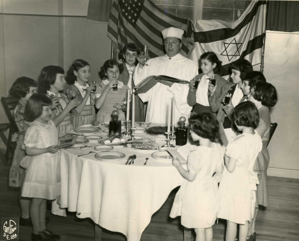 Girls Observe Jewish Sabbath at The Shield_ca 1950